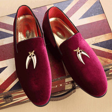 2017 Fashion Spring Autumn Mens Velvet Flats Men'S Loafers Men Charm Decoration Flat Oxford Casual Shoes Zapatos Hombre Sapatos цена