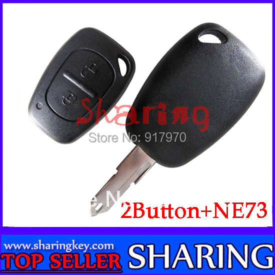 Free Shipping (5pcs/Lot) 2 Button Remote Key  Ne73 Blade 433MHZ With Pcf7946 chip Work For For Renault Cilo  Scenic kango