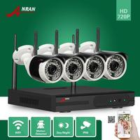 ANRAN 4CH WIFI NVR 720P Wireless P2P Plug Play IR Outdoor Waterproof Network IP Camera Surveillance