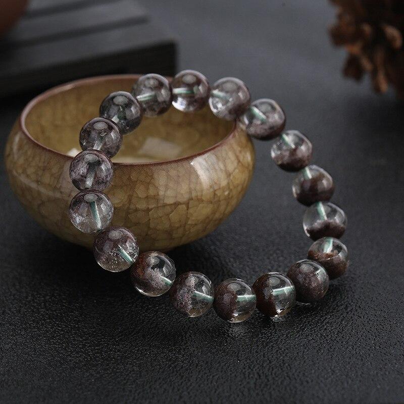 Bracelets en cristal de fantôme vert de Cornucopia naturel véritable de qualité supérieure Bracelets en pierre de gemme fantôme vert de couleur réelle Bracelets
