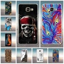 Cover For Samsung Galaxy A7 2017 Cases Soft TPU Phone Bags For Samsung A720f A720 SM-A720 Case Print Coque For Samsung A7 2017 смартфон samsung galaxy a7 2017 sm a720f черный