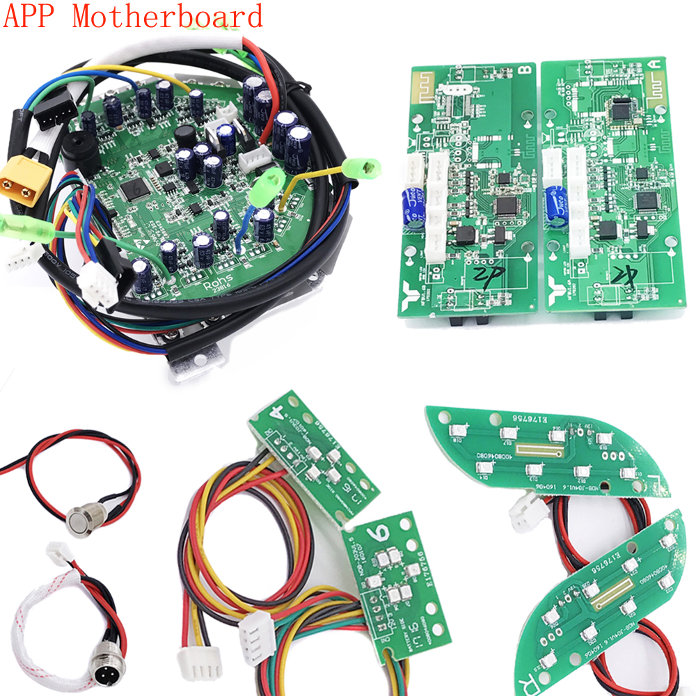 App Motherboard For 6.5 8 10  Hoverhoard 2 Wheels Self Balancing Electric Scooter Scooter Parts Mainboard Control Board hoverboard electric scooter motherboard control board pcba for oxboard 6 5 8 10 2 wheels self balancing skateboard hover board