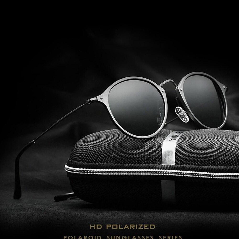 VEITHDIA Mode vintage Unisex Luftfahrt Aluminium Runde Polarisierte Sonnenbrille Männer Frauen markendesigner sonnenbrille Brillen 6358