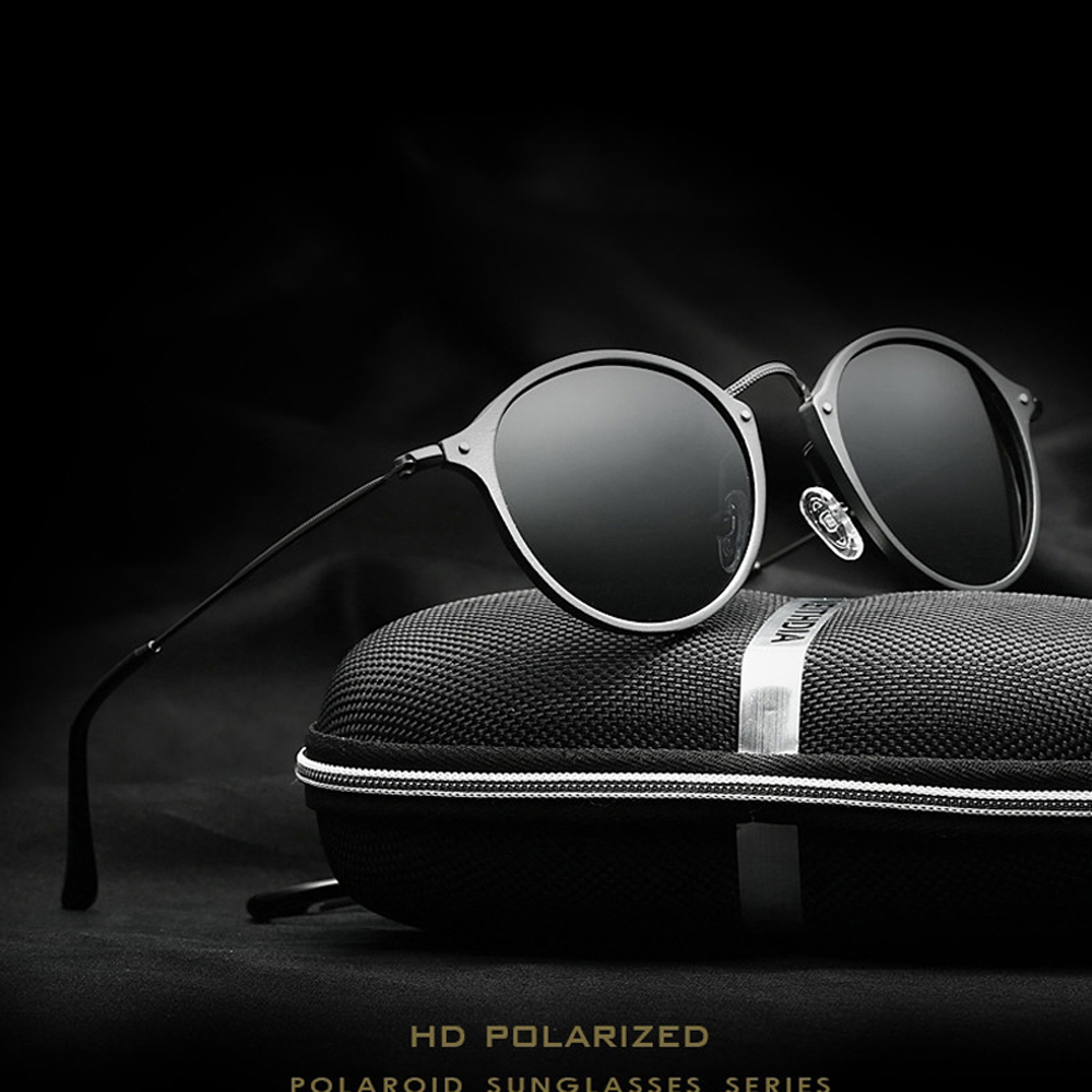 VEITHDIA Fashion vintage Unisex Aviation alumínium kerek polarizált SunGlasses férfiak Női márkatervező Napszemüvegek Szemüvegek 6358