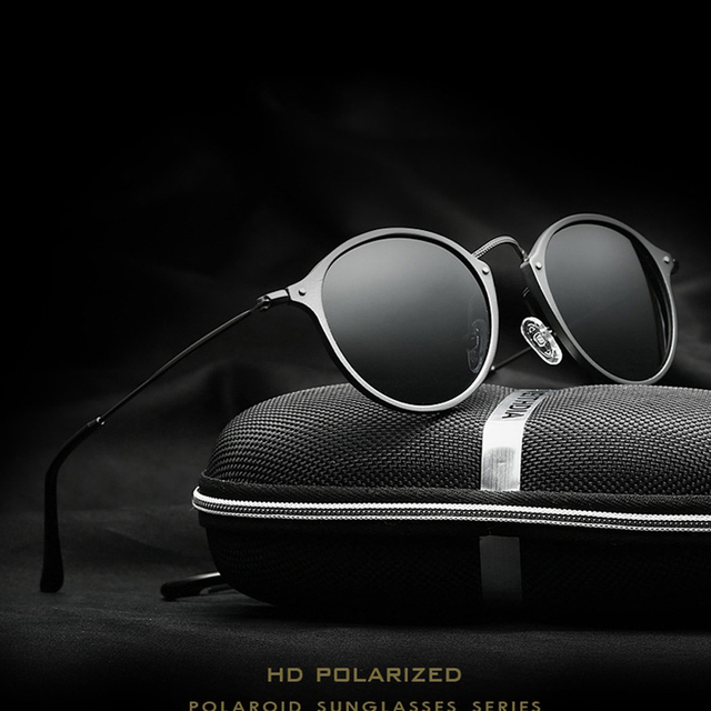0eb58d98fc VEITHDIA Fashion vintage Unisex Aviation Aluminum Round Polarized  SunGlasses Men Women brand designer Sun glasses Eyewear 6358