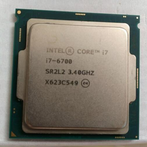 Processeur Intel Core I7 6700 CPU LGA 1151-land FC-LGA 14 nanomètres processeur Quad-Core série 6 I7-6700