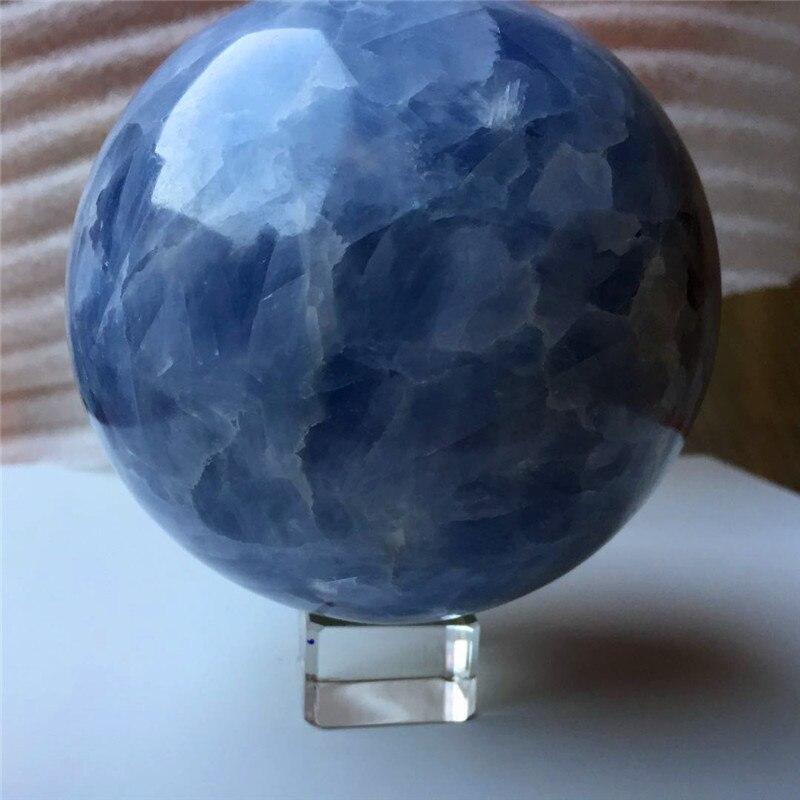 Drop shipping energy gemme Naturel bleu célestine Cristal sphère méditation reiki guérison boule de cristal avec support en verre