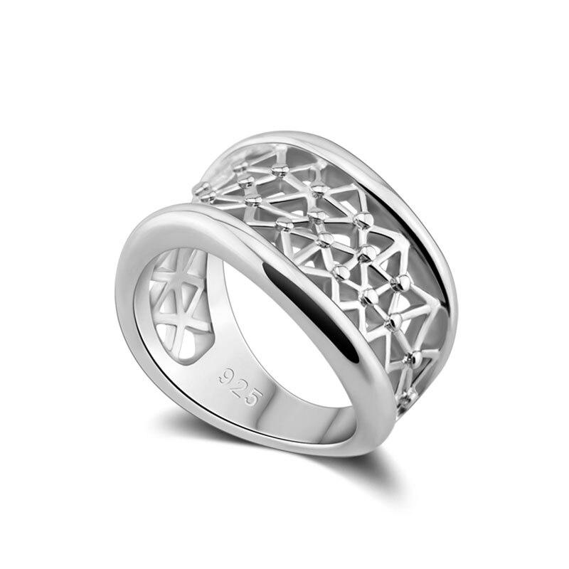 Besorgt Echt Silber Ringe Für Frauen Verdrehte Hohl Silber Ring Hochzeit Band Mode Schmuck Anillos Geschenk Partei Schmuck Geschenke Schmuck & Zubehör