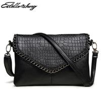 2016 Summer Crossbody Bag Female Small Simple Pu Leather Leisure Square Black Clutch Purse Women Crossbody