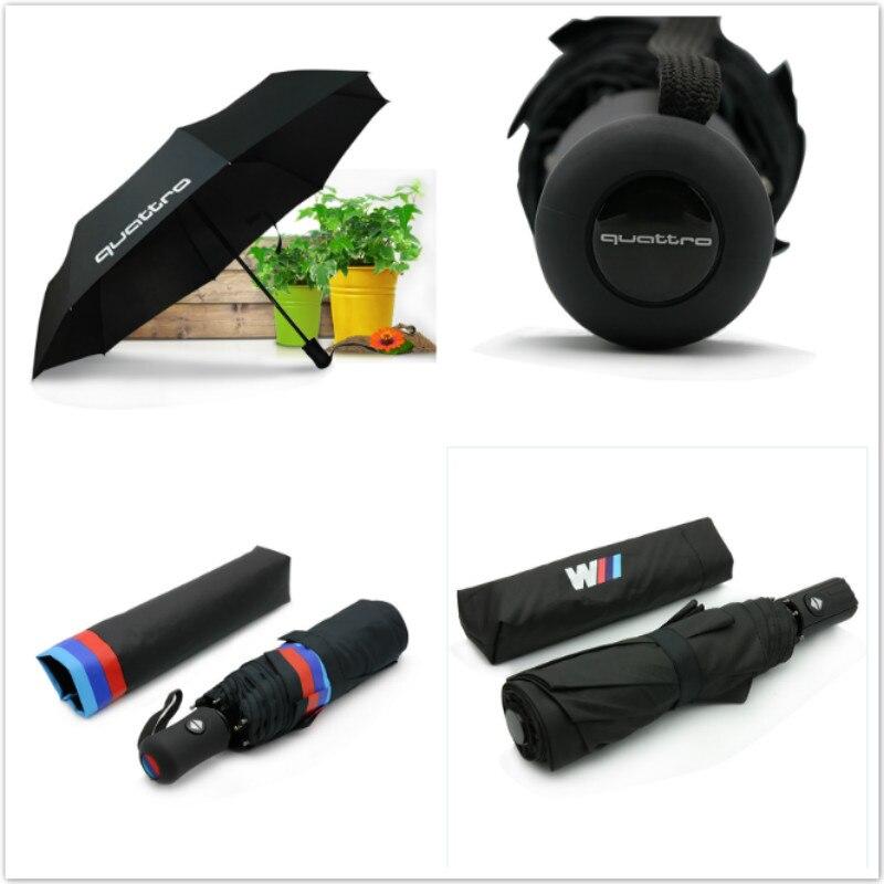 M Performance Car Styling Automatic Men & Women Sun Rain Umbrella Quattro For Audi A4 A5 A6 Q3 Q5 Q7 S3 BMW E90 E46 E39 F20 M3