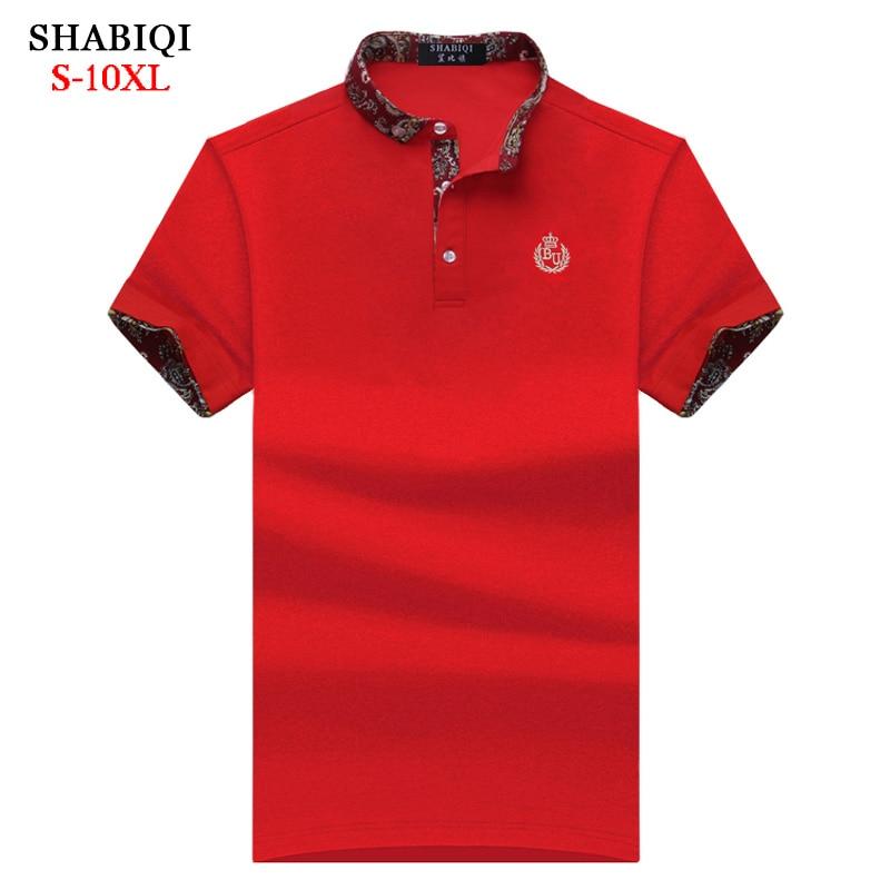 SHABIQI Classic Brand Men shirt Men Polo Shirt Men Short Sleeve Polos Shirt T Designer Polo Shirt Plus Size 6XL 7XL 8XL 9XL 10X men plus size 4xl 5xl 6xl 7xl 8xl 9xl winter pant sport fleece lined softshell warm outdoor climbing snow soft shell pant