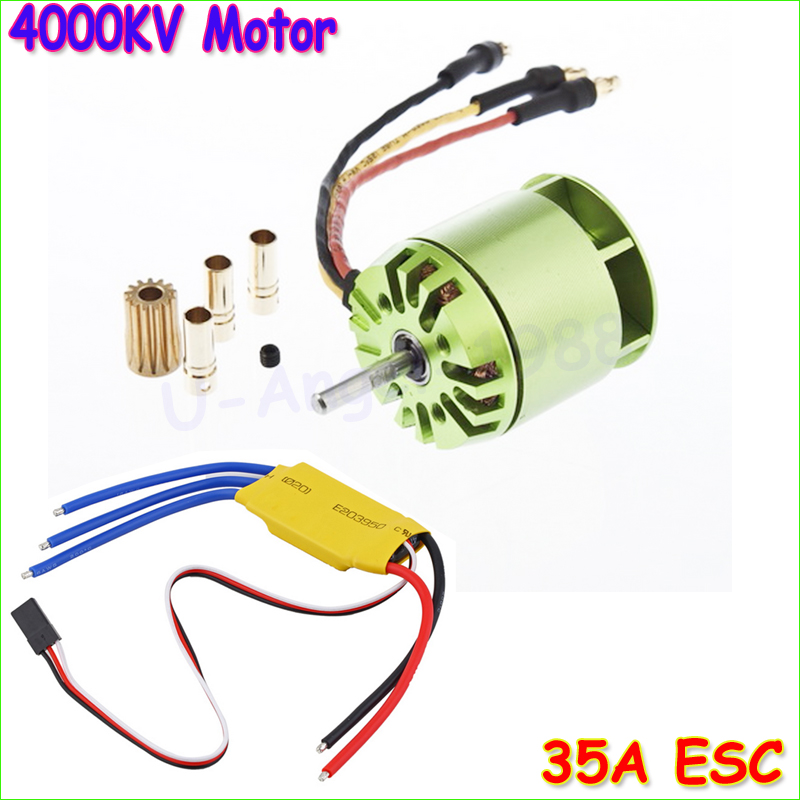 1 set 4000KV Brushless Motor For All ALIGN TREX T-rex 450 & 35A ESC For Rc Helicopter align t rex 250dfc main rotor head upgrade set h25119 trex 250 spare parts free track shipping