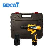 Bdcat 12 V lithium-batterie Akku-bohrschrauber lithium-akku bohrmaschine mini bohrer mit 2 batterien