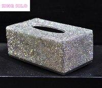 Высококачественное Хрустальное украшение алмаз необычная коробка для салфеток бумажный лоток для полотенца бытовая бумага насосная короб