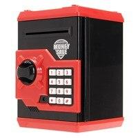 NEW Safety Mini Money Cash Saving Coin Box Security Safes Piggy Bank Password Lock Kids Children