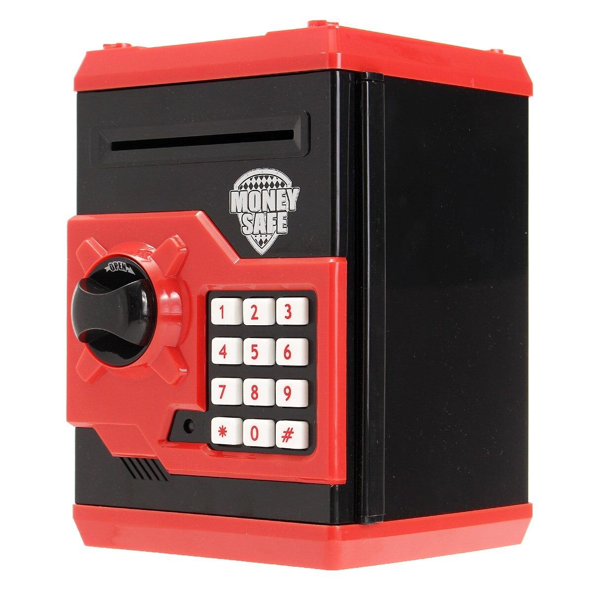 imágenes para NUEVA Seguridad Mini caja de Seguridad Cash Money Caja de Ahorro de La Moneda Alcancía Contraseña de Bloqueo Para Niños Juguetes Para Niños de Regalo