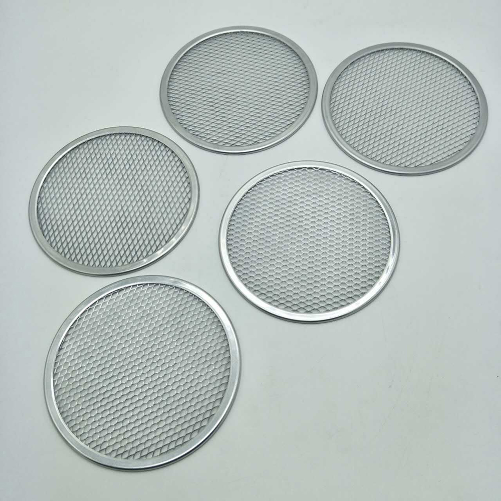 2019 New Non-stick Pizza Screen Pan Baking Tray Metal Net In Multi-size Aluminum Pizza Stones For Kitchen Cooking Tools