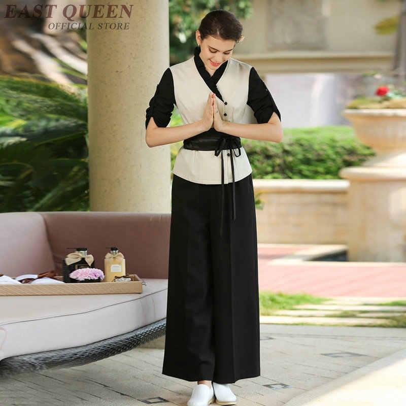 Güzellik salonu thai masaj üniforma klinik güzellik uzmanı üniforma kadın kadın giyim 2 parça pantolon setleri DD1072 Y