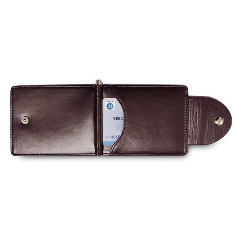 KUDIAN ayı kısa para klip Rfid erkekler para cüzdan deri ince erkek kart düzenleyici Minimalist Carteras Hombre BID249 PM49