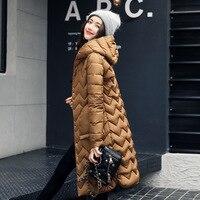 2018 New Autumn Winter Design Women's Cotton Slim Zipper Coat Hooded Jackets Coats Overcoat Plus Size Down Parkas Hot Sale