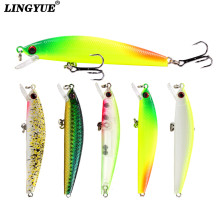 Купить с кэшбэком 1pcs Hard Minnow Fishing lures Artificial Make 8.5cm/7.5g Plastic Models Fishing Tackle 5 Colors Available Wobblers bait Pesca