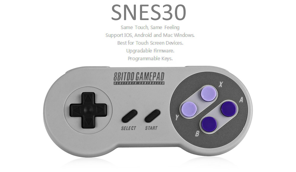 8Bitdo SNES30 Pro Wireless Bluetooth Controller Dual Classic Joystick for iOS Android Gamepad PC Mac Linux PK FC30 Pro