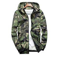 c56a61f86a0 NIBESSER Для мужчин куртка осень-весна куртка в стиле милитари Куртки- бомберы Тактический пальто ветровка куртка с капюшоном мал.