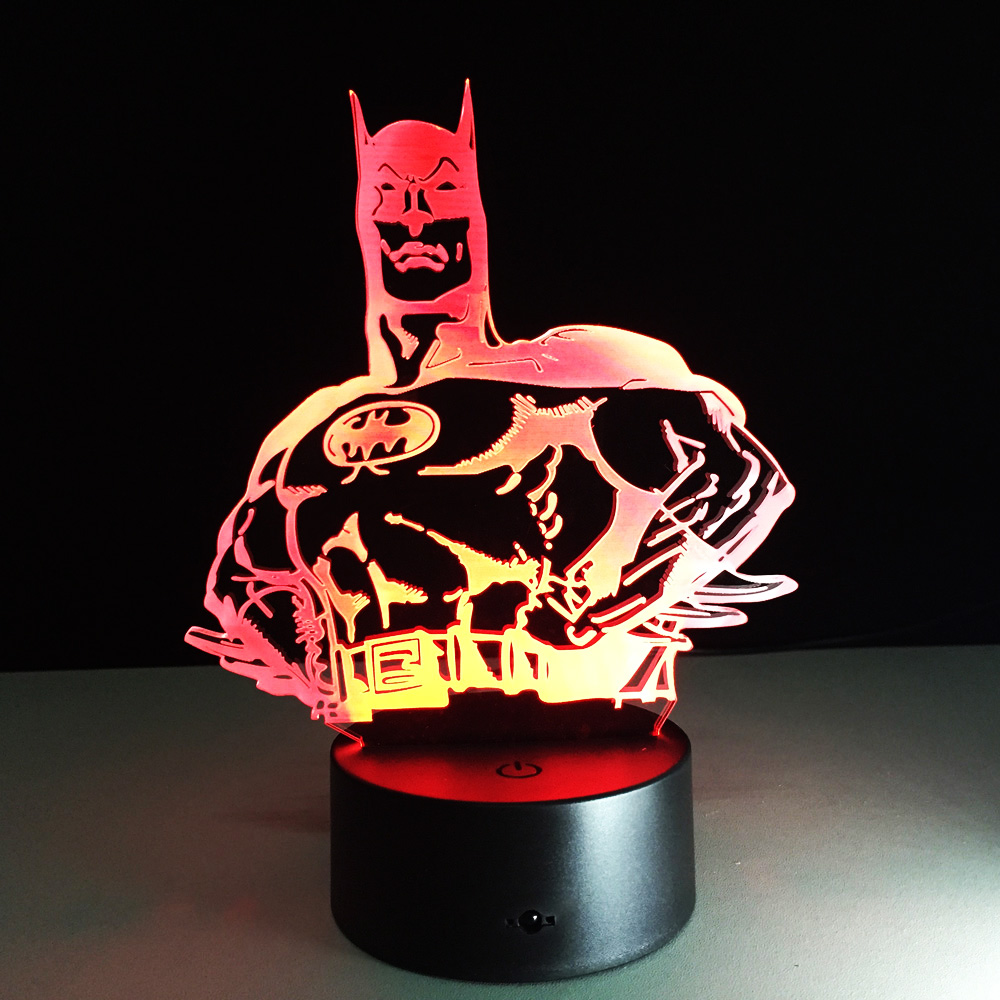 Batman Lamp Fashion Modern Art High Grade 3D Night Lamp For Home Bedroom Living Room Decoration Table Desk Light Drop Ship