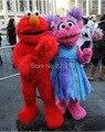 Rojo Sesame Street Elmo traje de La Mascota Trajes de piel Largo rojo monstruo de Halloween Disfraces de dibujos animados de La Mascota s