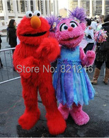 Sesame Street Red Elmo Mascot Costumes Long Fur Red Monster Halloween Mascot S Cartoon Costumes
