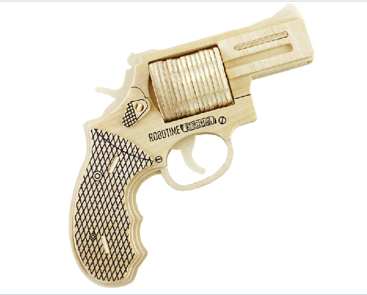 Free Shipping 6 7 Year Old Boy Puzzle Toys Wooden Simulation Gun Military Pistol Model
