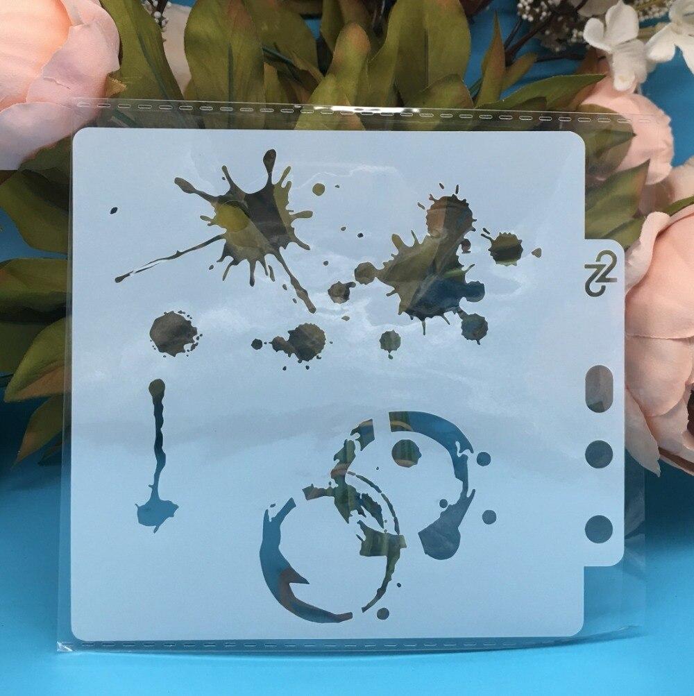 13cm New Drop Circle Dot DIY Layering Stencils Wall Painting Scrapbook Coloring Embossing Album Decorative Card Template