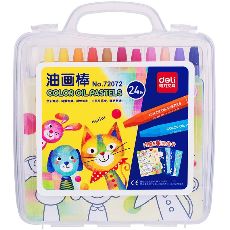 цены Deli Oil Pastel Non-toxic Washable 24/36 Paint Sticks Solid Tempera Paint Pen Color Crayons Cute Stationery Office School
