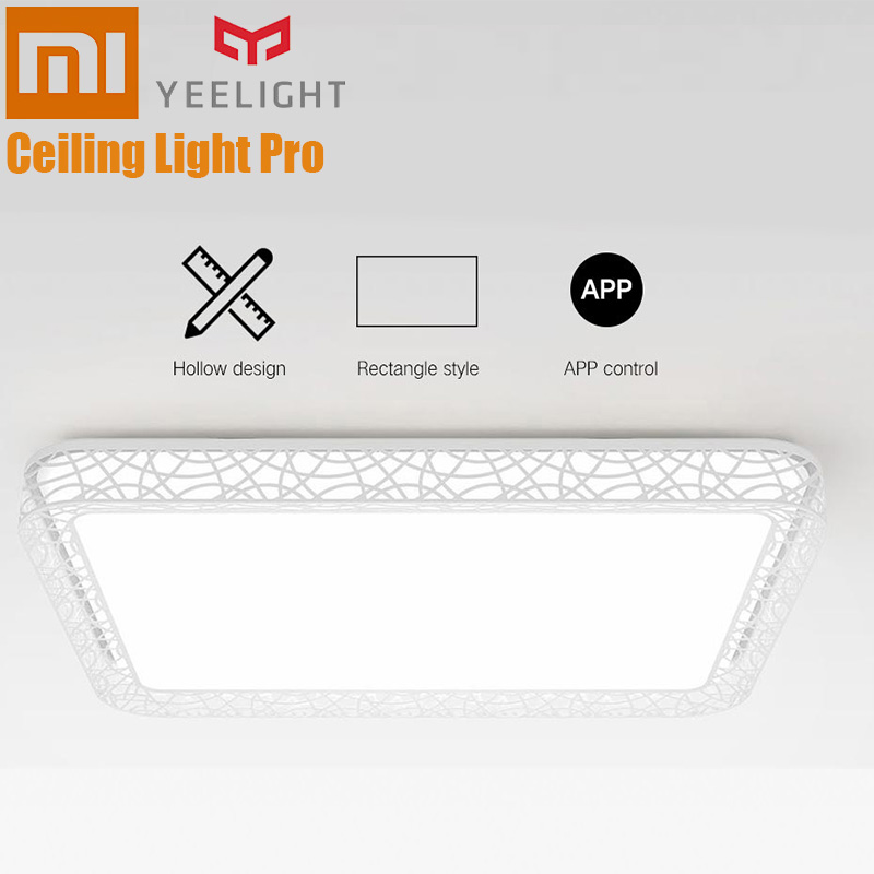 Xiaomi Yeelight YILAI YlXD07Yl Rectangle Hollow Smart Ceiling Light Pro APP Voice Control Ceiling Lamp Eye Protection For HomeXiaomi Yeelight YILAI YlXD07Yl Rectangle Hollow Smart Ceiling Light Pro APP Voice Control Ceiling Lamp Eye Protection For Home