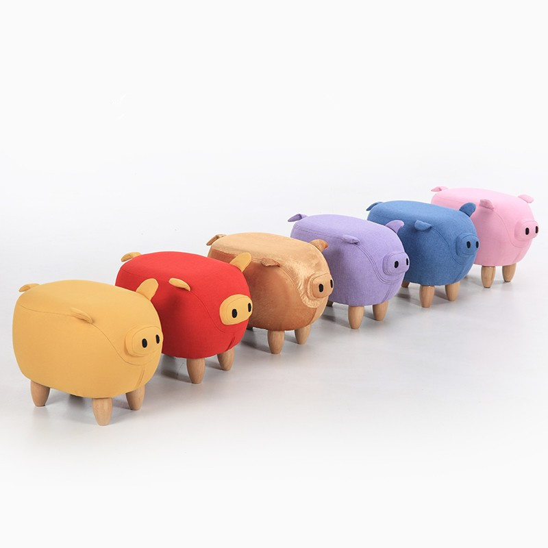 2017 new Cute Aminal Stool Pig Ottoman Washable Small Living Room Chair  Children furniture made in - Compare Prices On Ottoman Chairs- Online Shopping/Buy Low Price