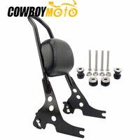 Motorcycle Luggage Detachable Sissy Bar Passenger Seat Backrest Cushion Pad Black For Harley Sportster 883 1200 XL XL883 XL1200