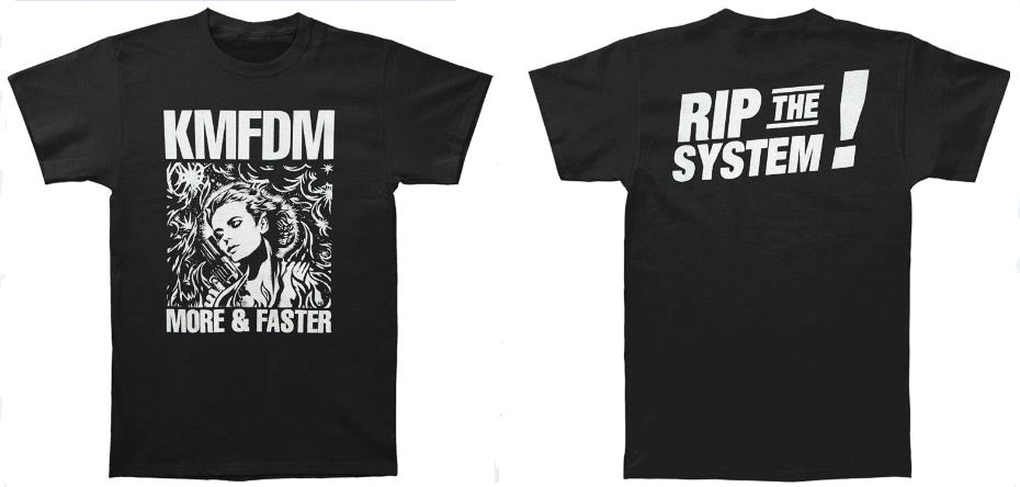 Kmfdm Mens T Shirt Black Print Casual T Shirt Men Brand Top Tee