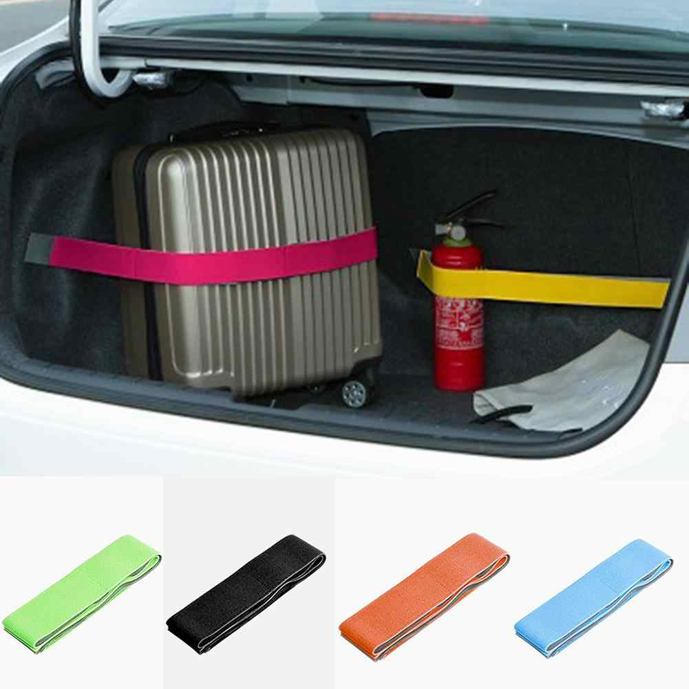 Car Trunk Storage Device Hook and Loop Fixed Straps Solid Color Magic Stickers