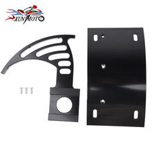Motorcycle Parts Black Swingarm Side Mount Curve License Plate Bracket for Suzuki GSXR 600 750 GSXR 1000 1300 Hayabusa все цены