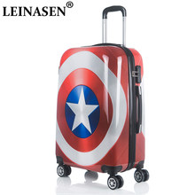20 24 inch Rolling luggage Spinner Women Trolley men Travel Bag Student Carry On Children Kids Trunk Suitcases Wheels(China)