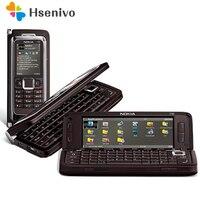 E90 100% Оригинал Nokia E90 мобильный телефон 3G GPS Wi-Fi 3.2mp Bluetooth смартфон красный и подарок Восстановленное