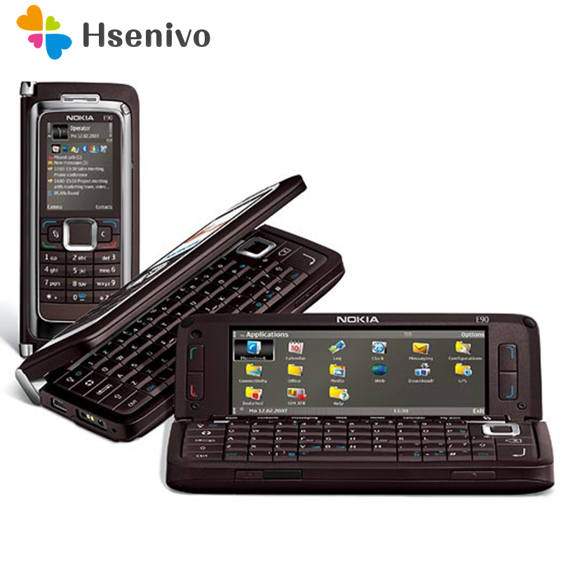 E90 100% Original NOKIA E90 Mobile Cell Phone 3G GPS Wifi 3.