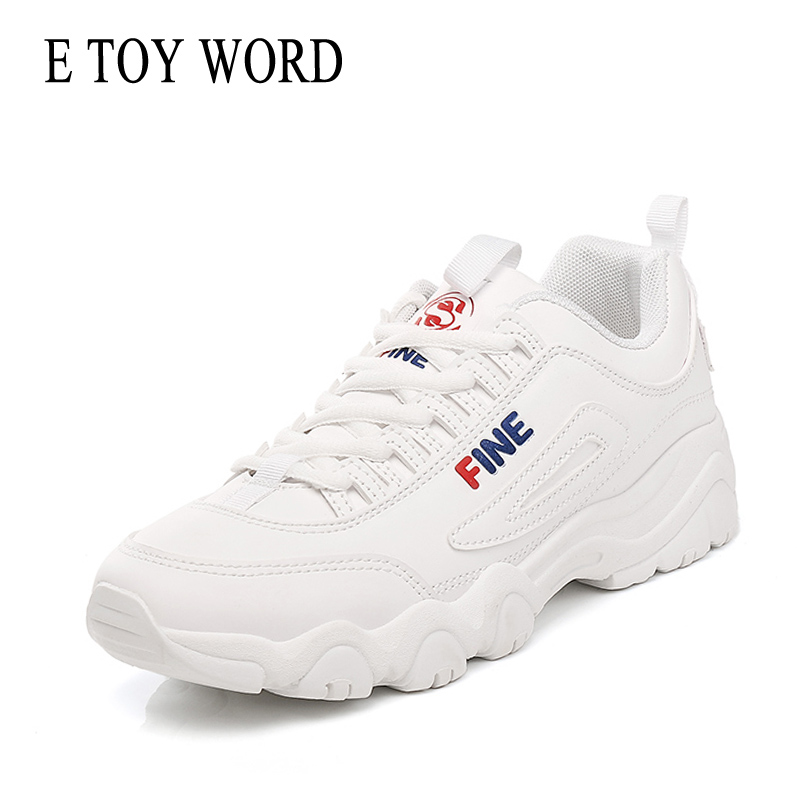 E TOY WORD Fashion Street Shooting Women Shoes Harajuku Ulzzang White Sneakers Women Autumn Comfortable Breathable Casual Shoes