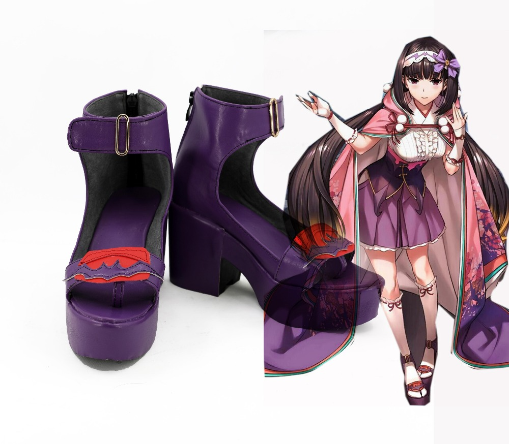 Anime FGO Fate Grand Order Cosplay Assassin Osakabehime Purple Cosplay Shoes Boots Halloween Cosplay