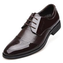 New Man Business Affairs Dress Leather Male Flats Wedding Formal Office Shoes Men's Fashion Leather Shoes