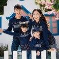 2017 mommy and me hoodies roupas de algodão de moda roupas mãe e filha combinando floral luva cheia 5023