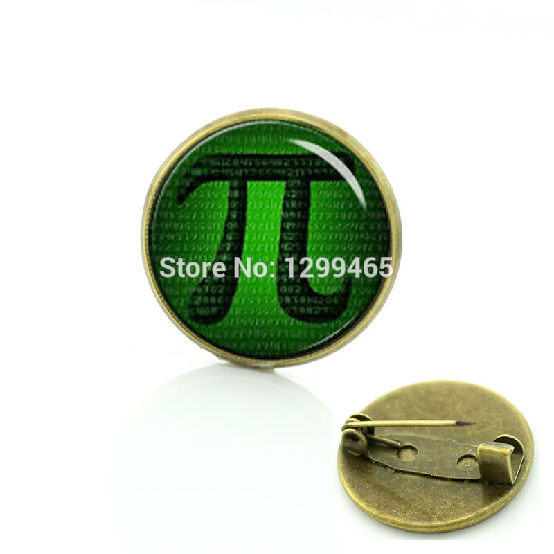 Simple design Mathematic Symbols art picture brooches formal wear badge Interesting Math Pi symbol metal pin C 1317