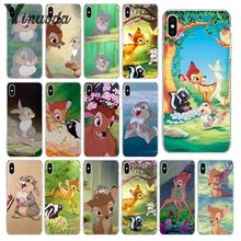 Yinuoda Cute cartoon bambi and thumper Phone Accessories Case for Apple iPhone 8 7 6 6S Plus X XS MAX 5 5S SE XR Mobile Cover