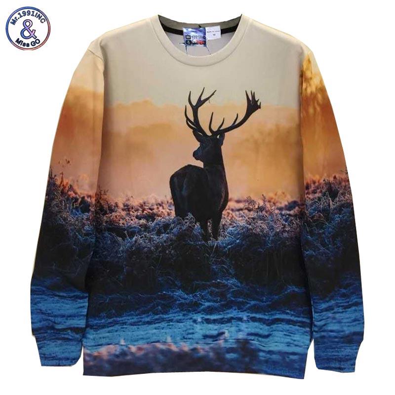 824b360fb5258e ộ_ộ ༽Mr.1991INC Homens/mulheres camisolas 3d impressão de Um veado ...