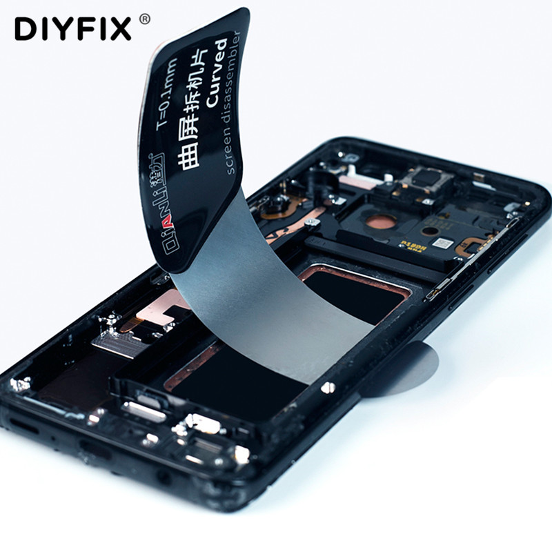 Ultra Thin Flexible Spring Steel Pry Spudger Curved Screen Disassemble Card For Samsung IPhone Curved Screen Opening Repair Tool